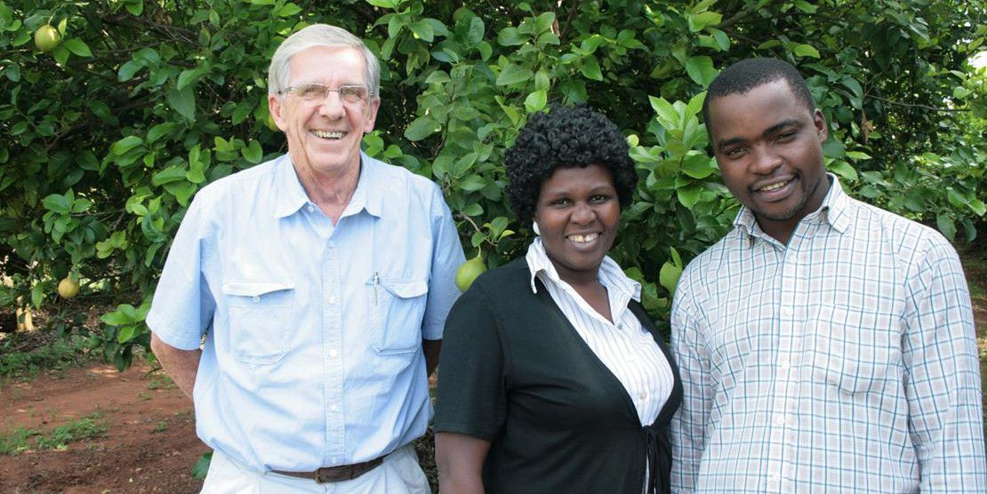 From left to right: Bruce Andrews, Joyce Phonela, and Gilbert Chikweshe